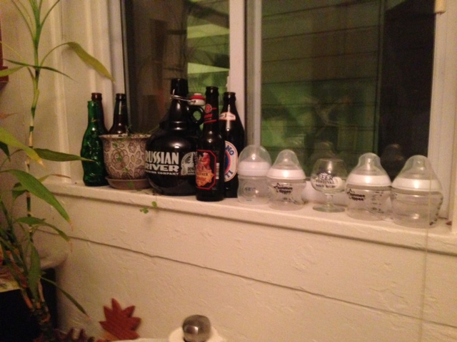 I'm not saying it will happen today, or even tomorrow, but at some point this bottle standoff is going to become the Gettysburg of windowsills. Only one genre of bottles will prevail...