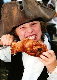 Ron as a young boy had already began his turkey fetish